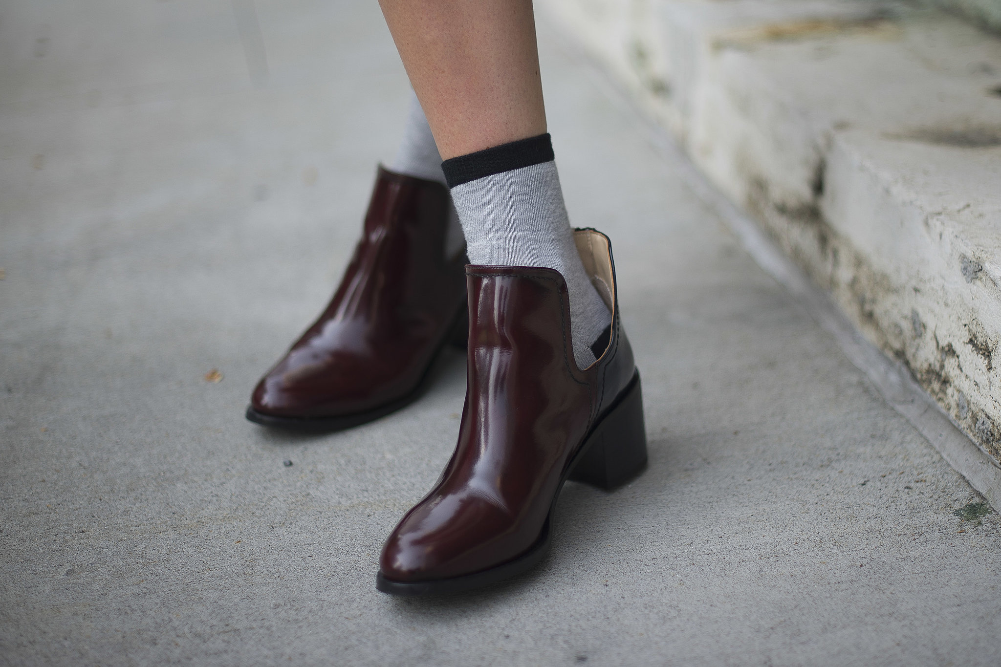 A menswear-inspired Fall boot in the richest burgundy — what's not to like?