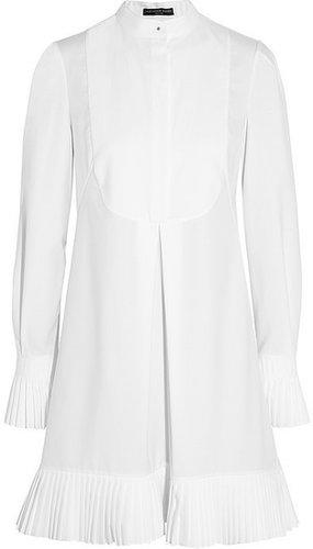 Alexander McQueen Pleated cotton-piqué shirt dress