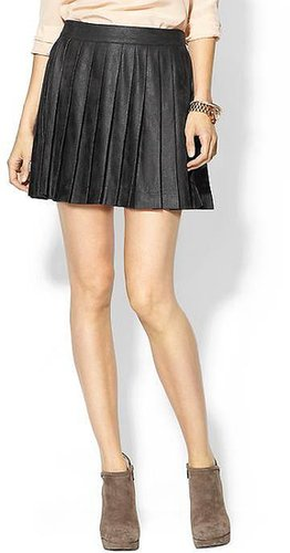 Monrow Vegan Leather Pleated Skirt