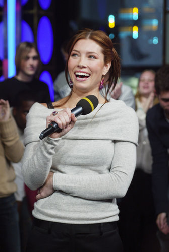 Jessica Biel had a laugh during her time on TRL in 2003.
