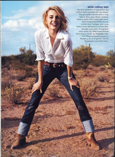 Jayne Moore in Simple White Top and Jeans