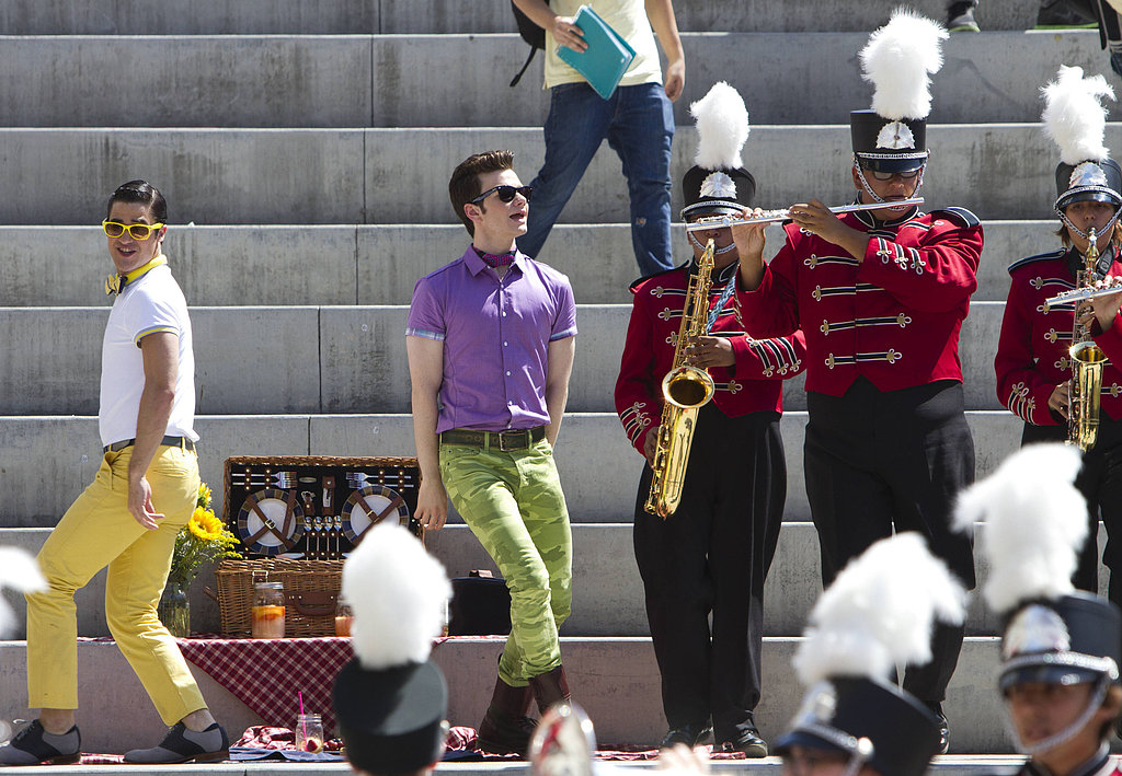 Glee Blaine (Darren Criss) and Kurt (Chris Colfer) perform on Glee.
