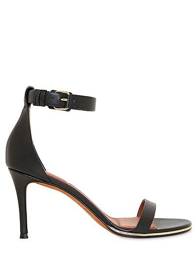 80mm Calfskin Ankle Strap Sandals