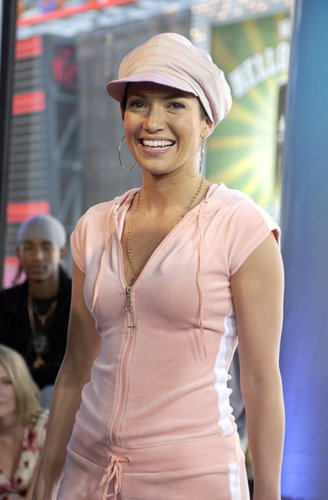 Jeninifer Lopez sported a velour tracksuit for her 2002 TRL visit.