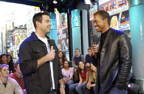 Tiger Woods chatted with Carson Daly on the show in 2002.