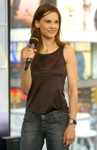 Hilary Swank visited TRL's studio in 2003.