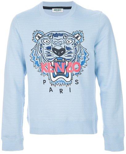 Kenzo slogan tiger print sweatshirt