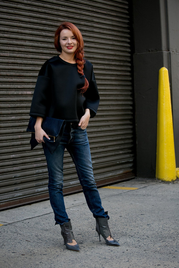 Sea of Shoes's Jane Aldridge outfitted her jeans with — what else? – statement shoes.