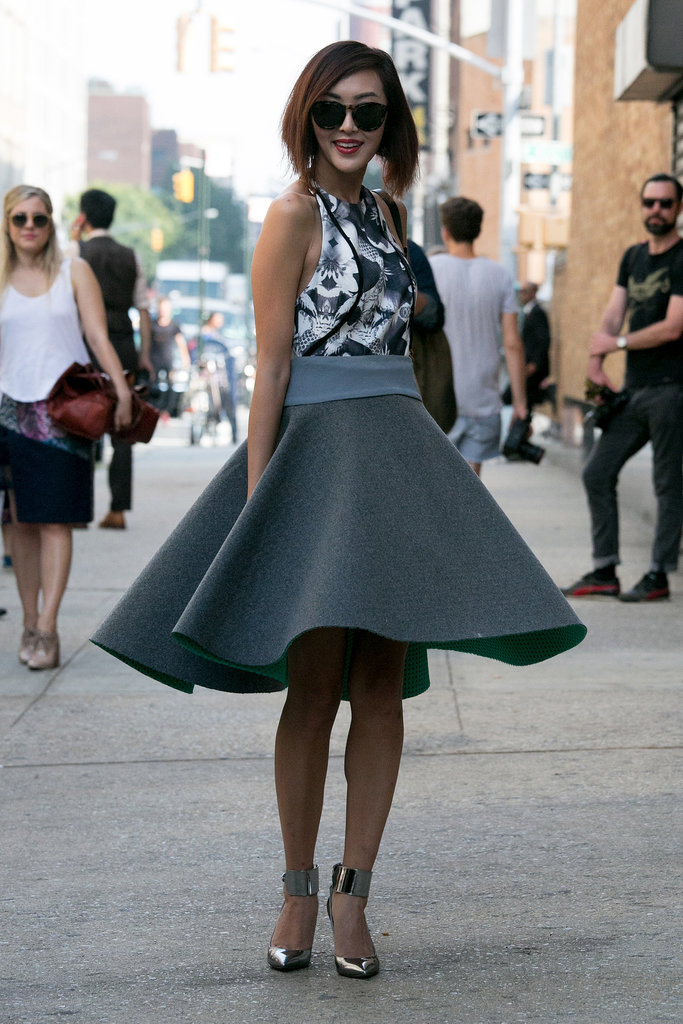 If you were wearing this skirt, you'd twirl too.