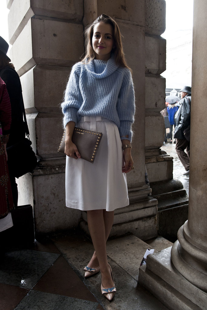 Lovely and ladylike, with a cozy layer to top it all off.