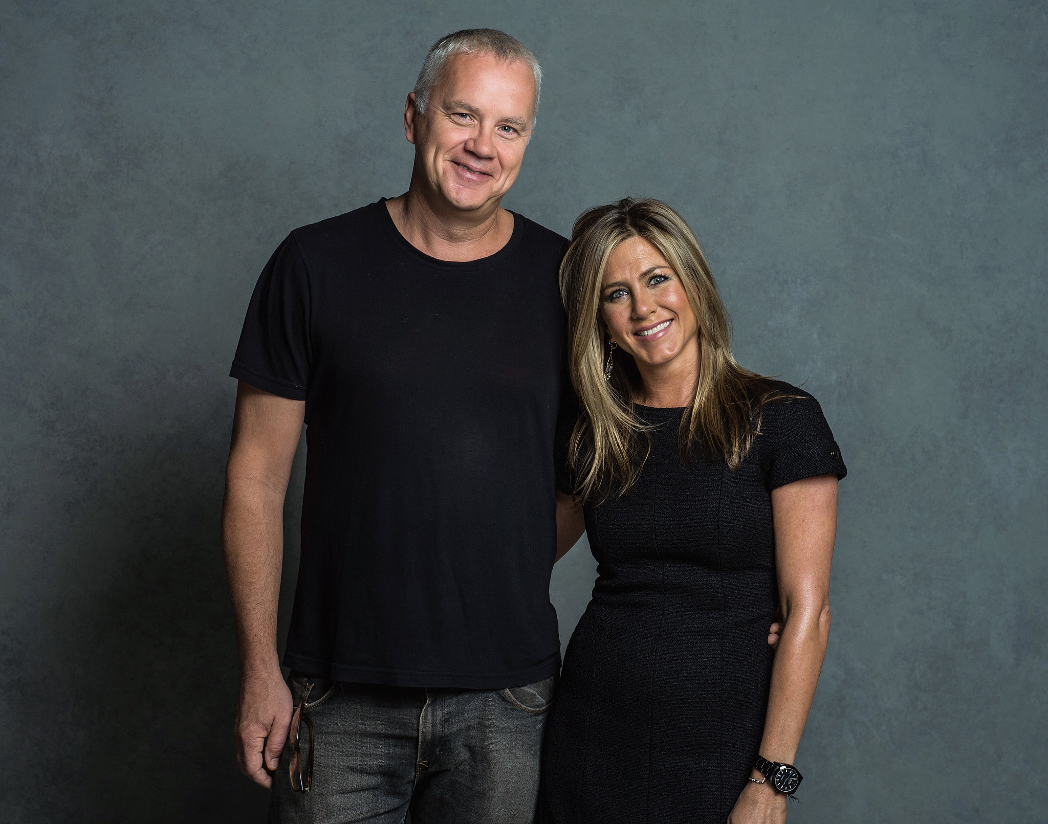 Jennifer Aniston posed with her costar Tim Robbins at the Toronto International Film Festival.