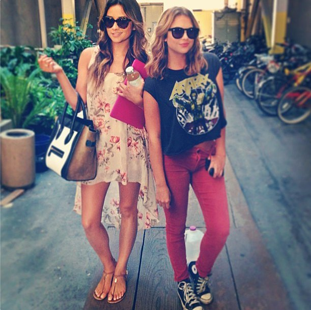 After shooting wrapped on Pretty Little Liars, the stars dressed down in their off-duty style. Source: Instagram user shaym