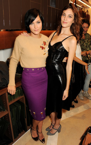 Leigh Lezark and Alexa Chung kept the style coming with Longchamp at the label's flagship opening.