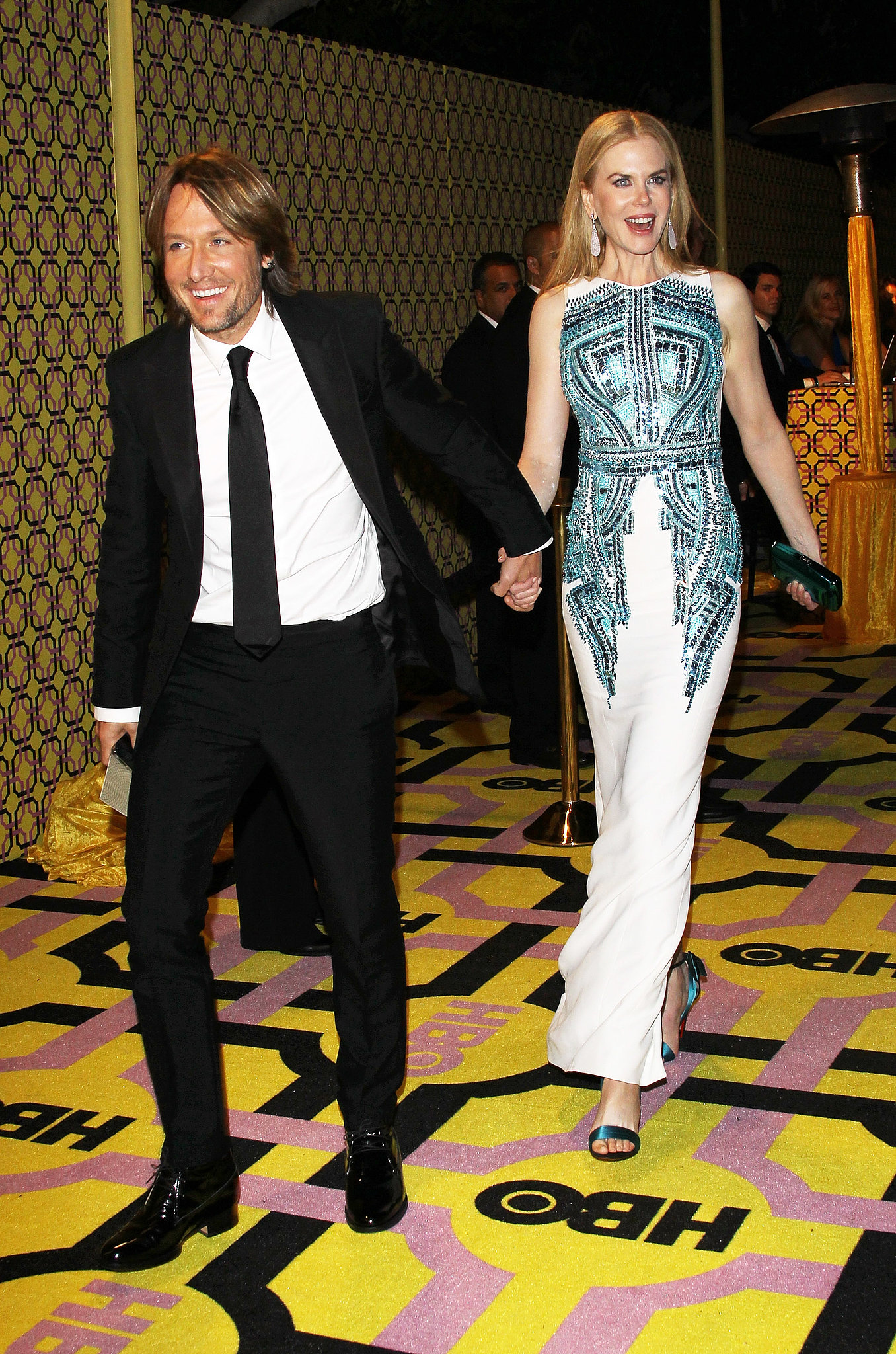 Nicole Kidman and her husband, Keith Urban, held hands as they made their way to the Emmy Awards reception after the 2012 show.