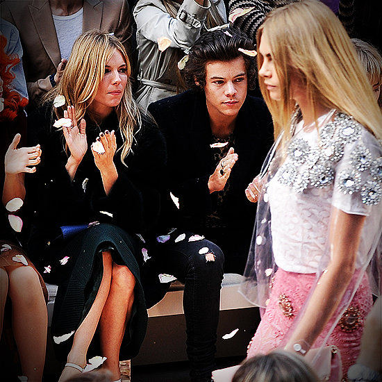 Harry Styles Sits Front Row at Fashion Week Watching Cara Delevingne