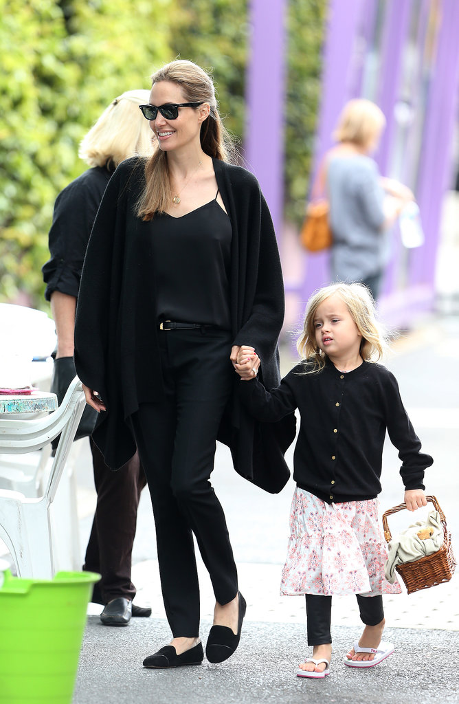 Angelina Jolie held Vivienne's hand at the Entertainment Quarter in Sydney.