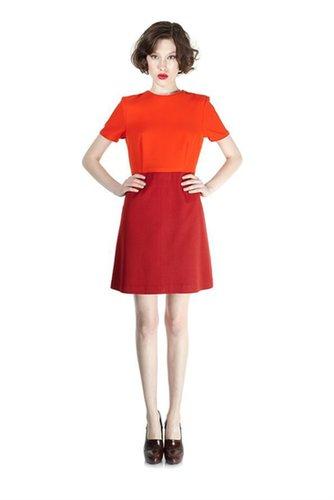 Spongey Wool Twill SS Dress