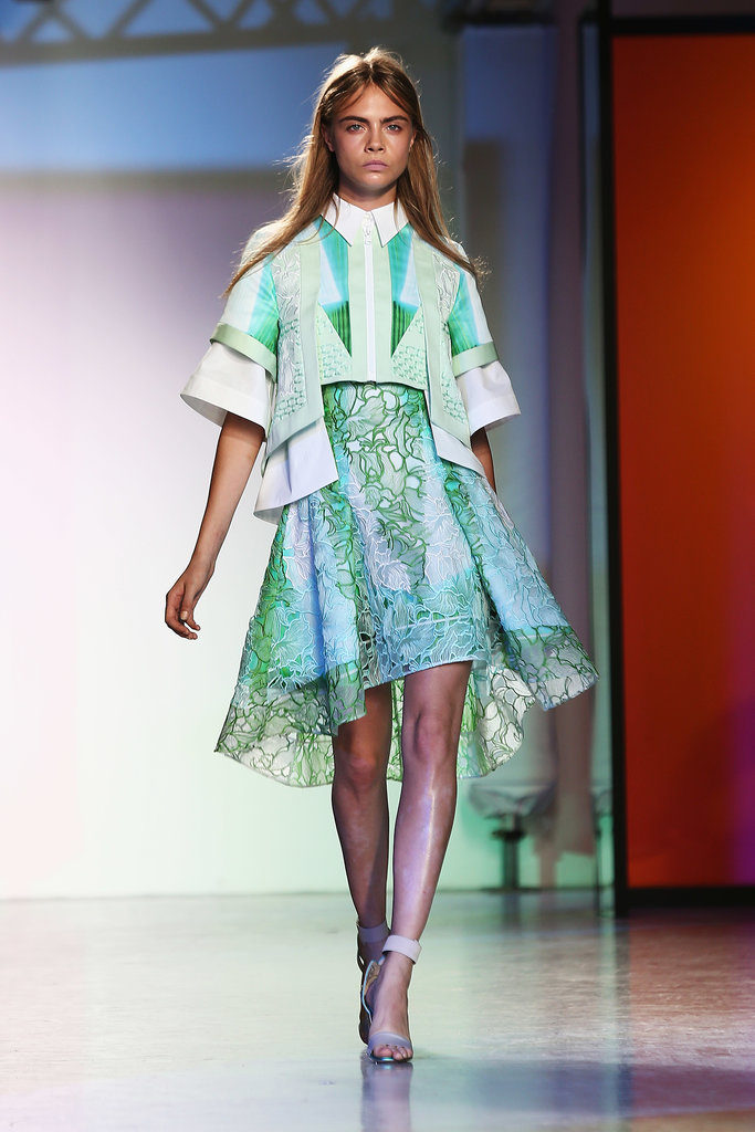 Cara Delevingne hit the catwalk for the Peter Pilotto show.