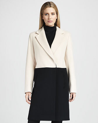 Fleurette Colorblock Wool Coat