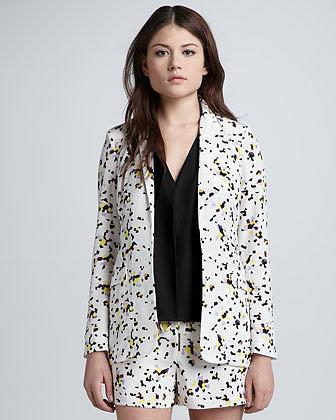 Diane von Furstenberg Vint Printed Silk Jacket