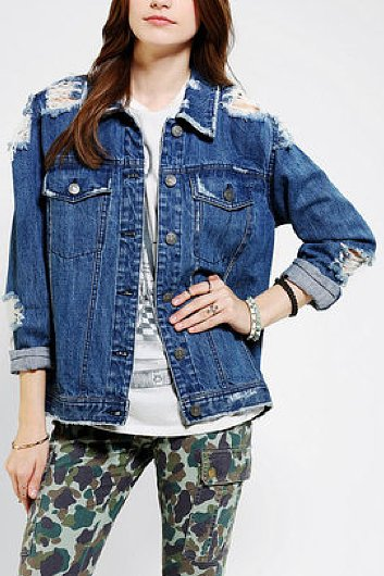 Get a perfectly broken in and a tad bit oversized denim jacket with this BDG denim boyfriend jacket ($40, originally