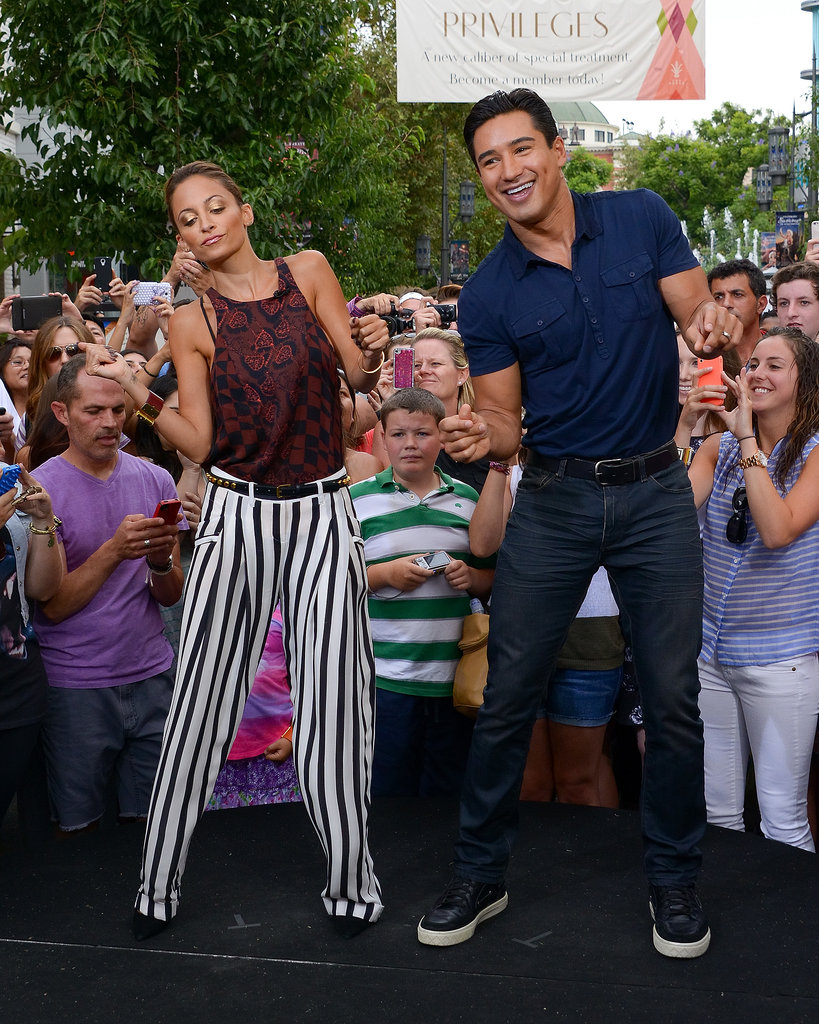 She broke it down with Mario Lopez during a July 2013 appearance on Extra in LA.