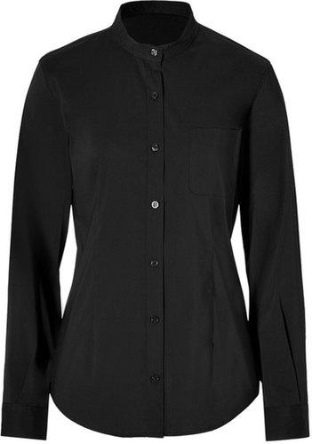 Steffen Schraut Madeleine Stand-Up Collar Blouse in Black