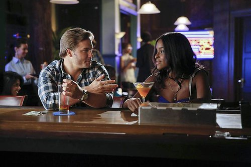 Hart of Dixie Scott Porter as George and Antoinette Robertson as Lynly on Hart of Dixie.