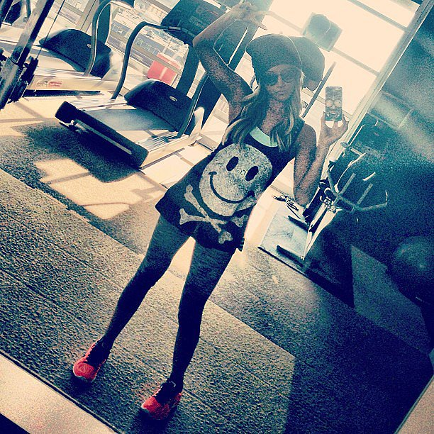 Ashley Tisdale showed off her gym style. Source: Instagram user ashleytis