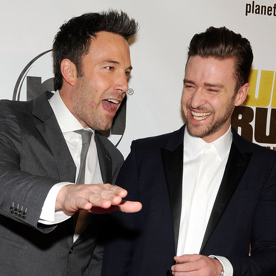Ben Affleck and Justin Timberlake at Runner Runner Premiere