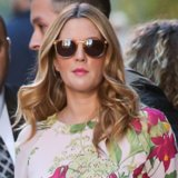 Drew Barrymore Wearing Floral Blouse in NYC | Video