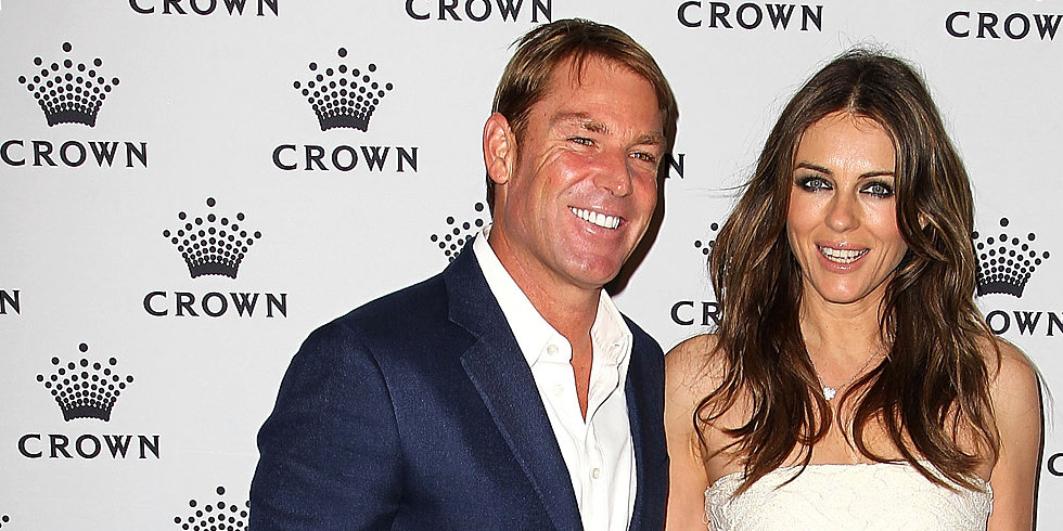 "Shane Warne and Elizabeth Hurley Are ""Not Throwing the Towel in Yet"""