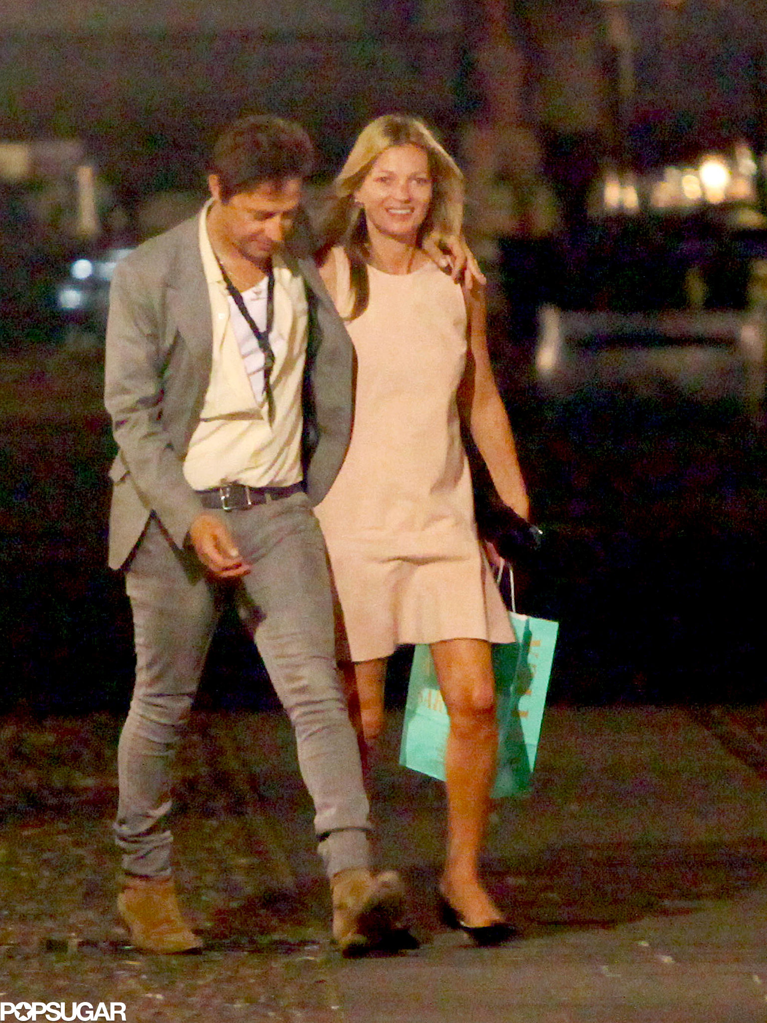 Kate Moss and Jamie Hince were all smiles on their way to dinner.