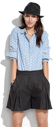 See by Chloé® Pleated Tweed Shorts