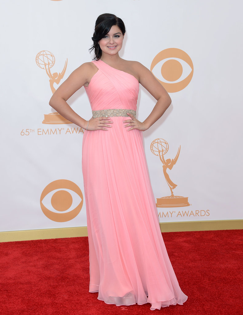 Ariel Winter was pretty in pink in a one-shouldered dress accented with a sparkly belt.