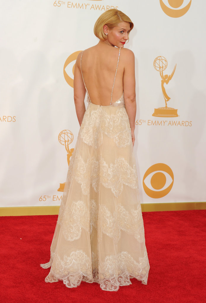 Claire Danes wore a dazzling Armani Privé gown at the 2013 Emmy Awards.