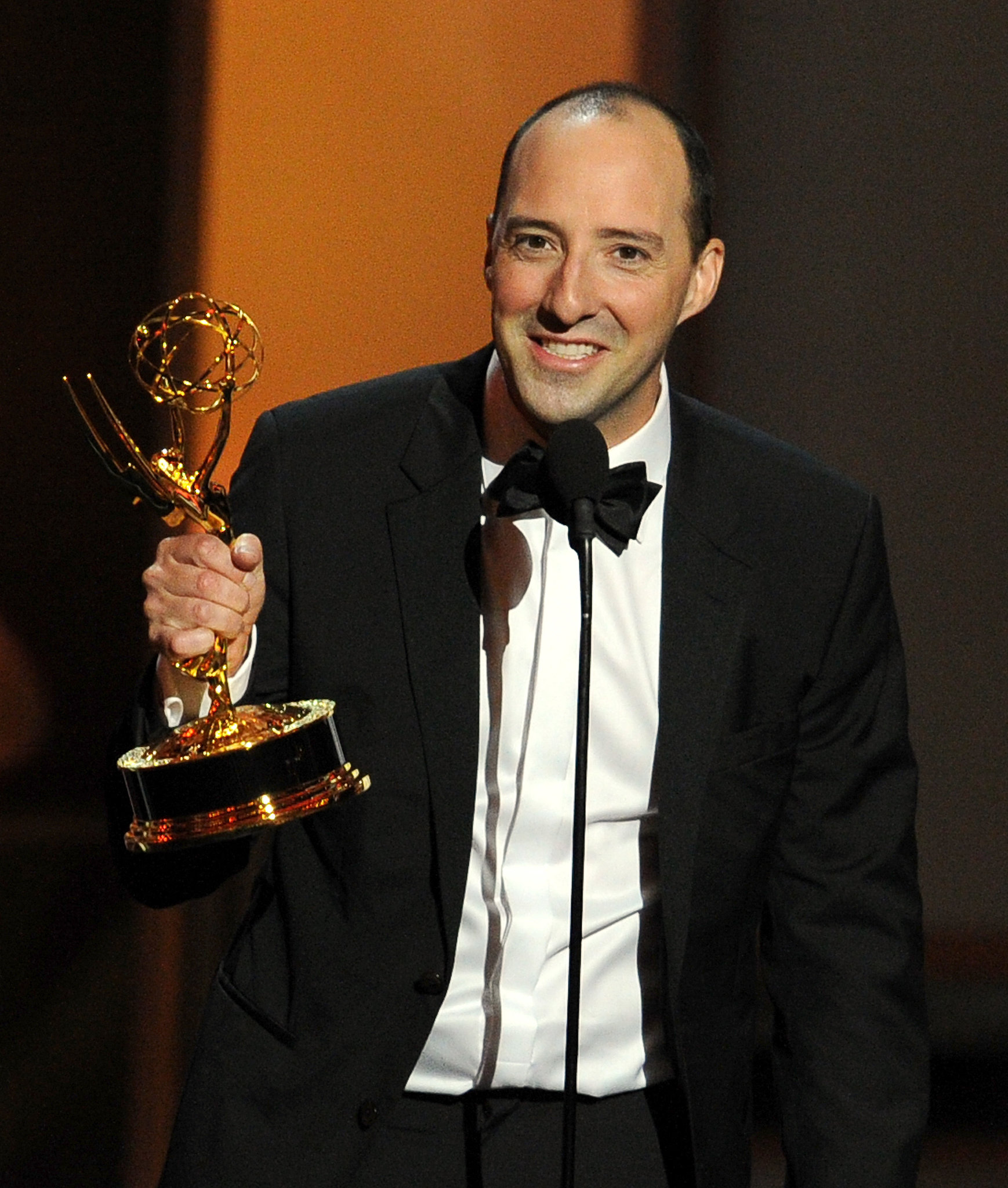 Tony Hale accepted the award for best supporting actor in