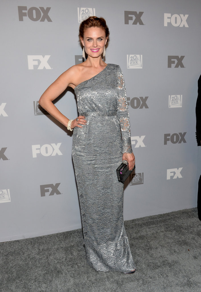 Bones star Emily Deschanel popped up at the Fox Emmys afterparty.
