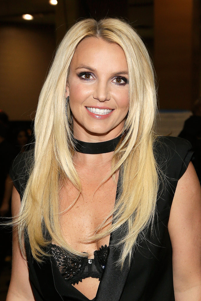 Britney Spears donned ultralong blond hair and shimmery shadow for a festival-perfect look that certainly had heads turning.