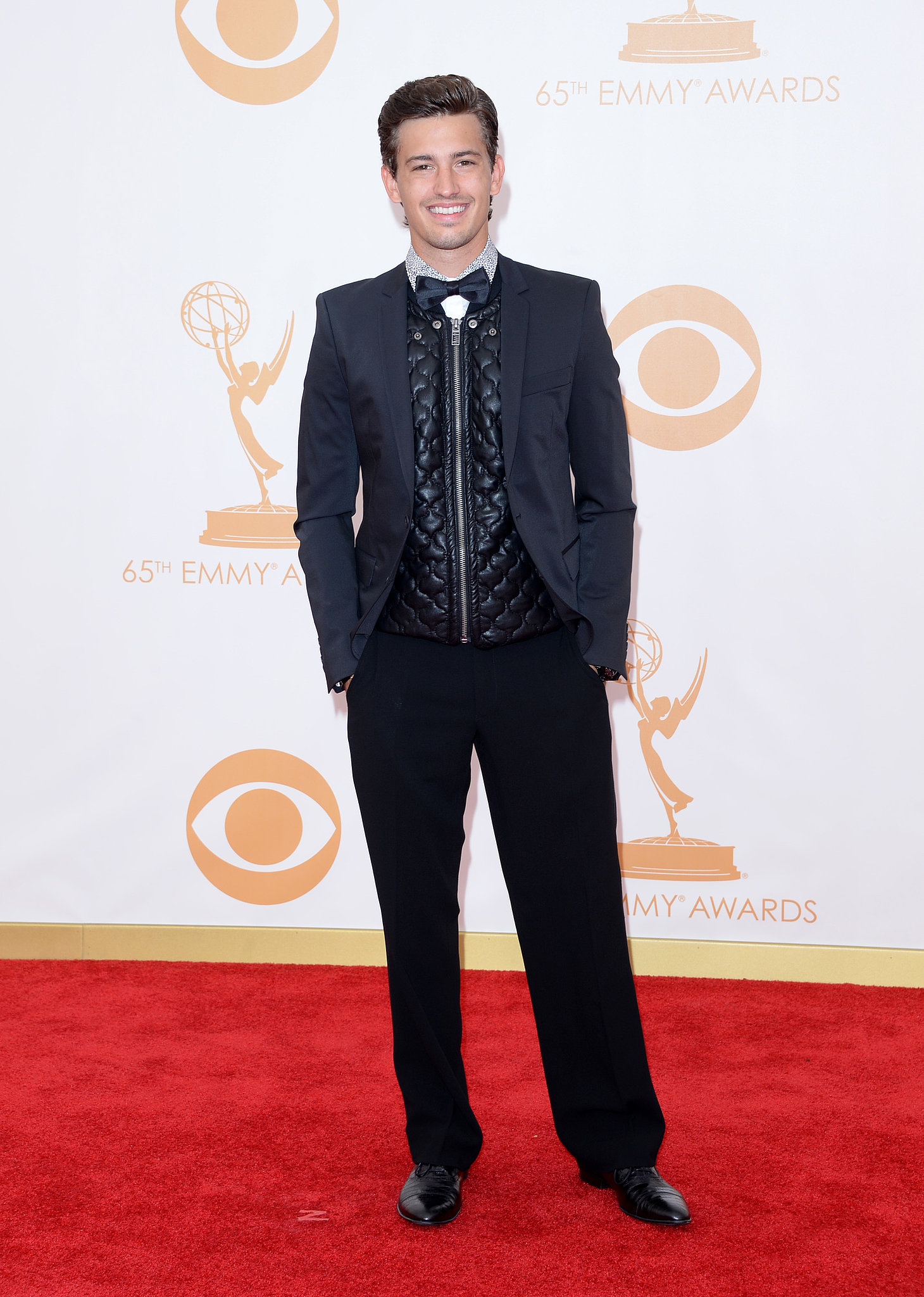 Actor Asher Monroe hit the red carpet at the Emmys.