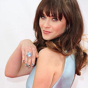 See Zooey Deschanel's 2013 Emmy Awards Nail Art