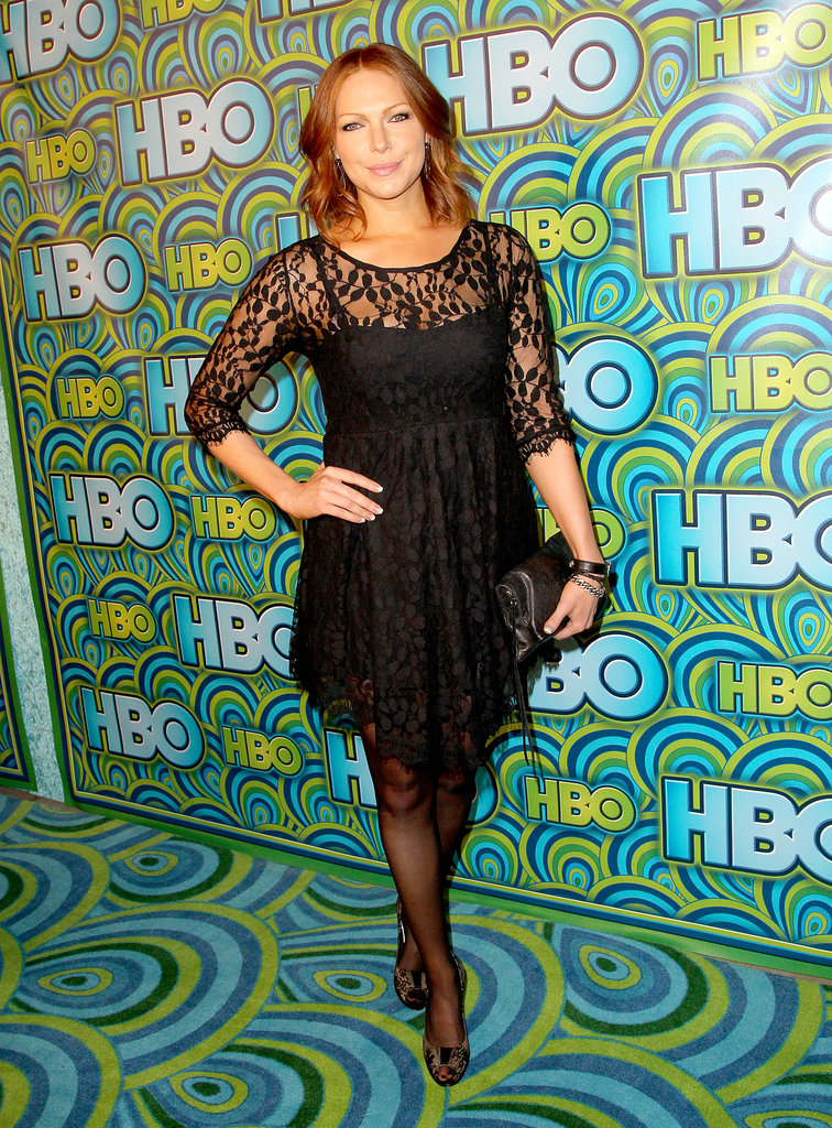 Laura Prepon wore black at the 2013 HBO Emmys afterparty.