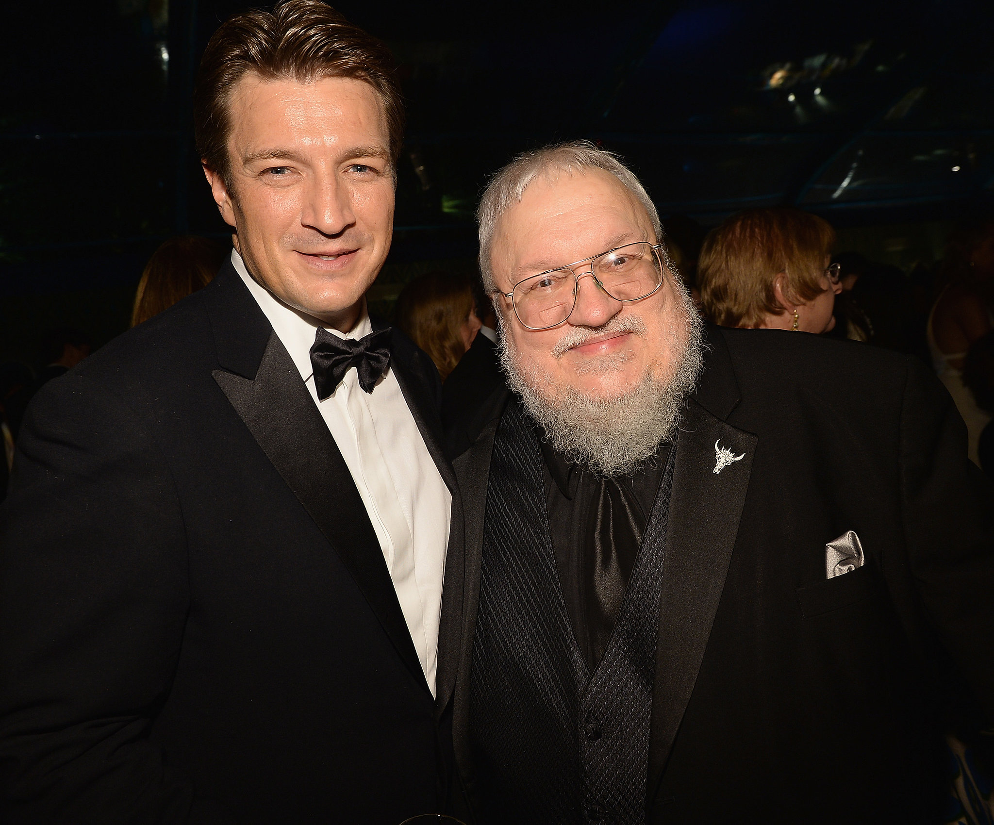 Nathan Fillion and George R. R. Martin shared a moment at HBO's afterparty.