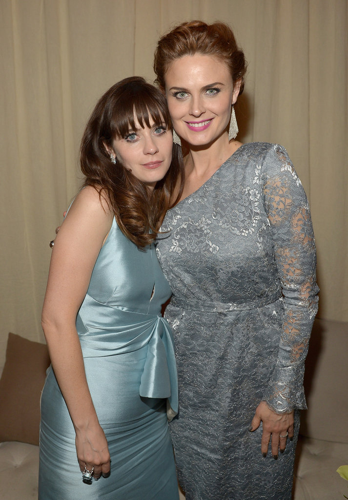 Zooey Deschanel and Emily Deschanel posed for photos at the Fox after party.