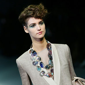 Giorgio Armani Spring 2014 Hair and Makeup   Runway Pictures