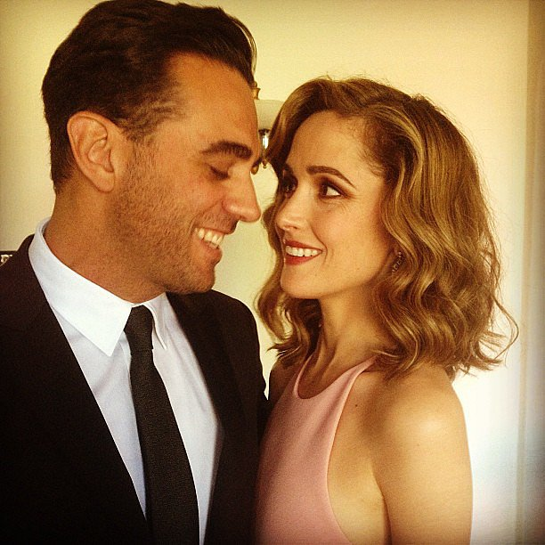 Bobby Canavale cuddled with Rose Byrne ahead of the Emmys. Source: Instagram user bobby_canavale