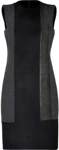 Akris Black/Charcoal Wool/Leather Dress