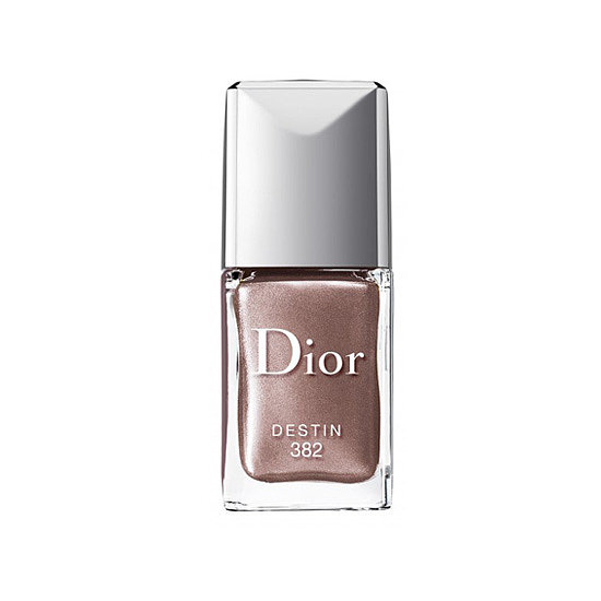 If you're more soft metal than heavy metal, then why not try this feminine hue: Dior Vernis Nail Lacquer in Destin ($24)?