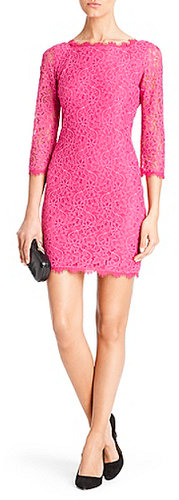 Zarita Lace Dress In Deep Carnation