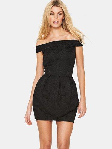 Love Label Bardot Bubble Jacquard Dress